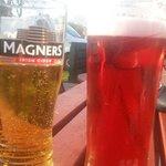 In the beer garden