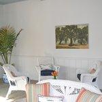 Reception with original art from resort
