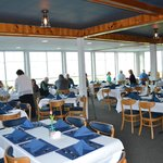 Guests enjoying the food and view of White Lake