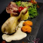 caille crémeux de foie gras