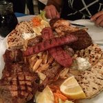 our huge mixed grill for two, delicious, but enough for 4!