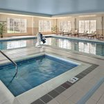 Indoor heated pool and hot tub