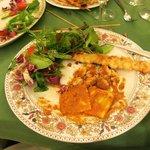 Ravioli and Grilled Tiger Shrimp