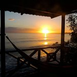 sunset from turtle cabina veranda