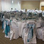 The reception room set up