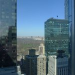 View of Central Park through the buildings from our room