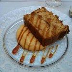 Postre del menú: Plum Cake de mango y manzana