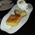 le dessert a base de fleur d'orangé