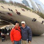 Con Clive en la Judía de Millenium Park