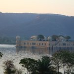 Jal Mahal at sunset from the room.