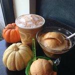 Pumpkin Spice Gelato with Pumkin Spice Latte