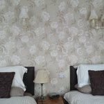 Suite room - beds and nice wall paper