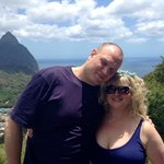 View from Loredo overlooking the Pitons
