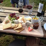 Cheese and wine at the clough house on a warm summers evening. Perfect