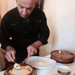Ángelo preparando Cuscus