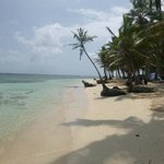 Practically private San Blas beach