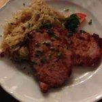 Smoked pork with sauerkraut - yum!