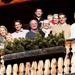 My family on Himmlhof suite balcony