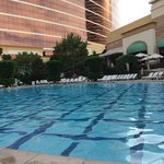 The Wynn  pool, very quite and peaceful. Perfect for families. There is a bar for 21 and over if