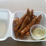 Flying fish fingers from the Seafans restaurant
