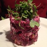 Beet salad.....pretty and delicious.