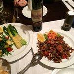 Asparagus and Parmesan and sautéed chanterelles