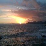fantastisk solnedgång