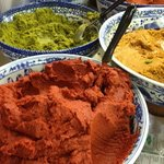 Curry pastes at the market