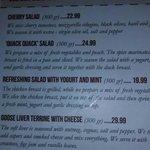 """Interesting menu- """"Quack Quack"""" salad was very good."""