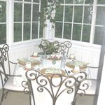Sun porch dining area
