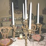 Ornate dining room candle stick holder