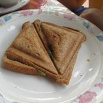 Grilled cheese sandwiches for breakfast