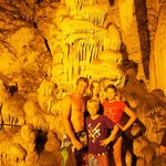 Us in the caves in Anti Paros