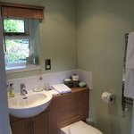the en suite shower room - really clean and lovely decor