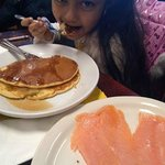 Our little Bella trying Lox for the 1st time :) Brava Principessa
