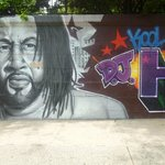 Graffiti mural of Dj Kool Herc