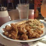 Best Ever Orange Chicken with Container Full of Sweet n Sour Sauce!