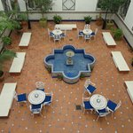 patio interno dell'hotel