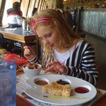 2 Separate Kids Desserts - Ice Cream and Rice Krispy Treat with Sauces to Paint It