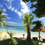 View ov beach from deck Villa 5
