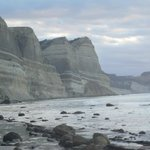View of Gannet Beach near Cape Kidnappers