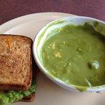1/2 BLT & avocado and cream of asparagus soup