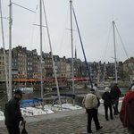 Honfleur Harbor - My 82 yrd old father in the foreground