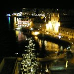 view at night from room le Meridean Hotel Malta
