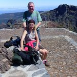 Me and June on top of Madeira