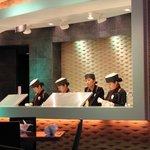 où ils préparent les sushis...