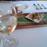 Gaspacho et crevettes