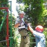 Andy ziplining -- best zip line yet