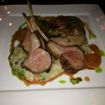 Rack of lamb, perfectly cooked. As good as it looks!