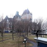 Chateau Frontenac - across courtyard from hotel